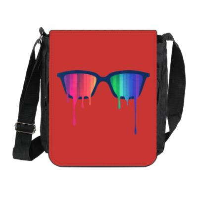Сумка на плечо (мини-планшет) Хипстер: очки