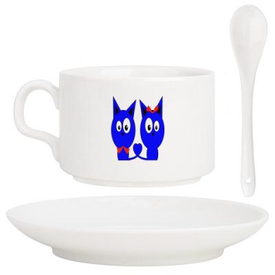 Кофейный набор Влюбленные котики
