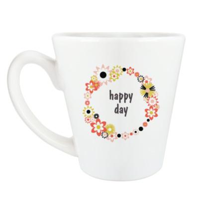 Чашка Латте Счастливый день