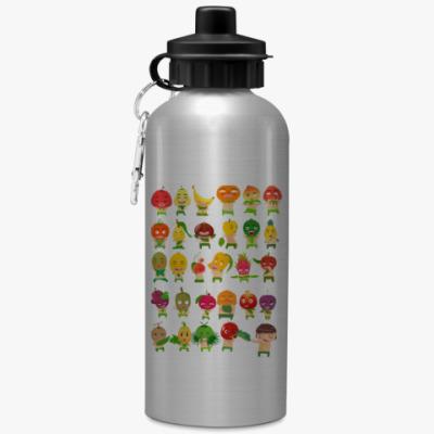 Спортивная бутылка/фляжка Фрукты, Овощи и Ягоды