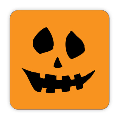 Костер (подставка под кружку) Тыква - Хэллоуин
