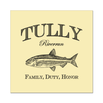 Наклейка (стикер) Tully
