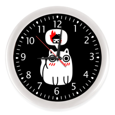 Настенные часы Котик злой