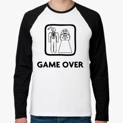 Футболка реглан с длинным рукавом Game Over. HELP!