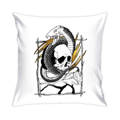 Подушка Змей с черепом