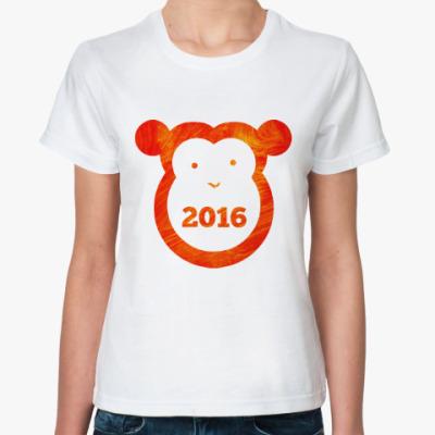 Классическая футболка Год Огненной Обезьяны 2016