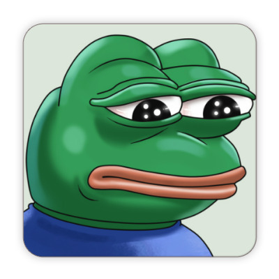 Костер (подставка под кружку) Pepe Frog