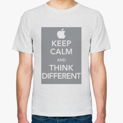 Футболка Keep calm and think different