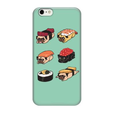 Чехол для iPhone 6/6s Суши мопс