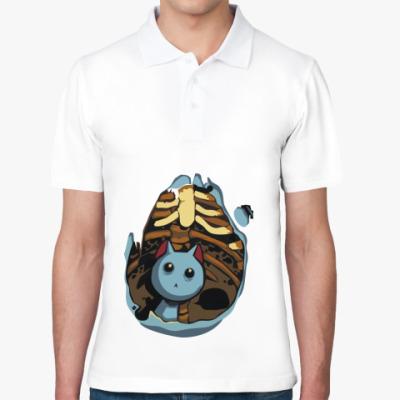 Рубашка поло Котик в животе