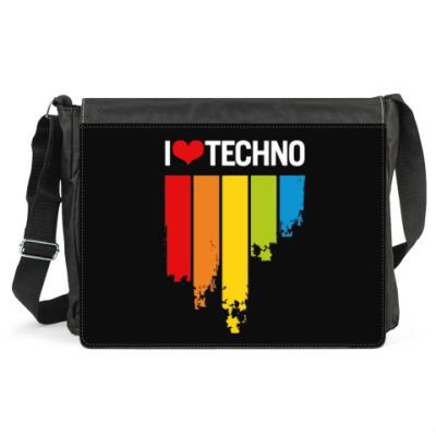 Сумка 'Я люблю техно'