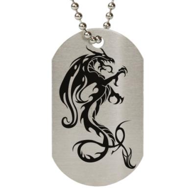Жетон dog-tag Черный водяной дракон