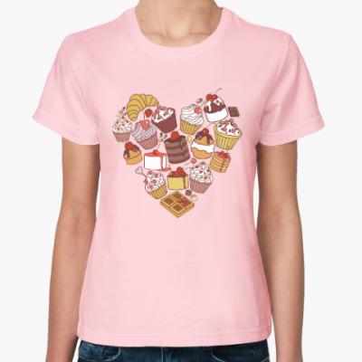 Женская футболка Я люблю сладкое!