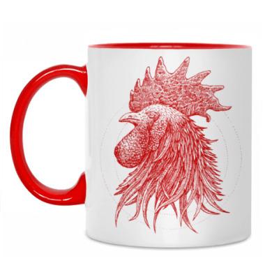 Кружка Красный петух символ Года