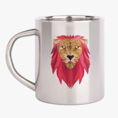 Кружка металлическая Лев / Lion