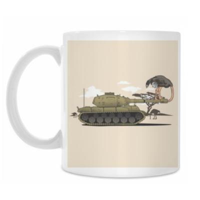 Кружка 'Страус в танк'