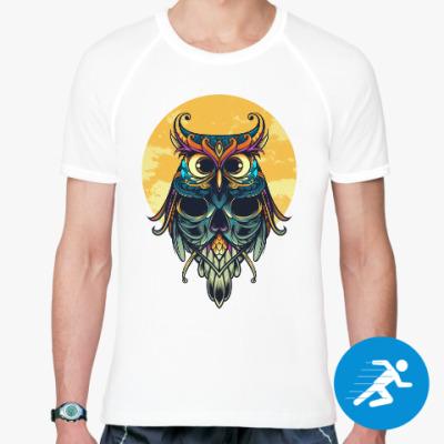 Спортивная футболка Сова на фоне Луны