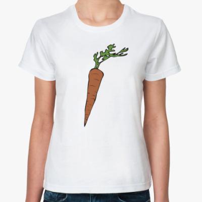 Классическая футболка Зайчик и морковка