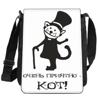 Сумка-планшет Очень приятный кот