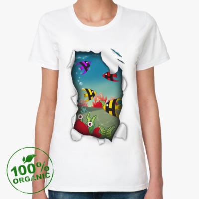 Женская футболка из органик-хлопка Море