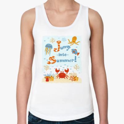Женская майка Jump into summer!