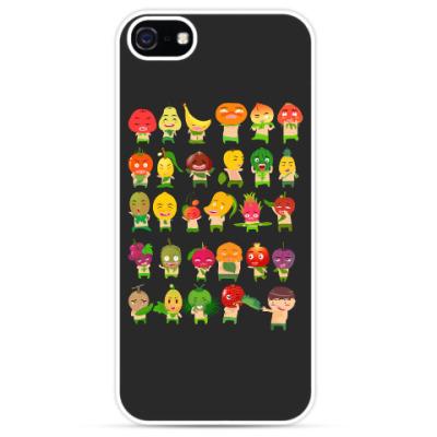 Чехол для iPhone Фрукты, Овощи и Ягоды