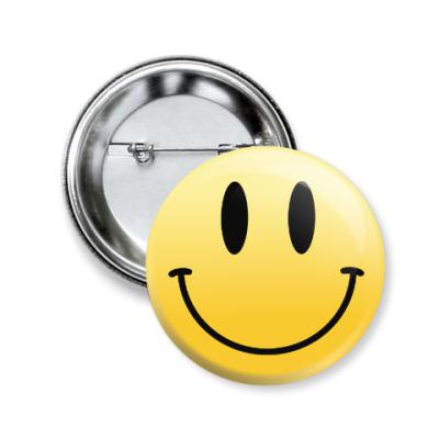 Значок 50мм Smile