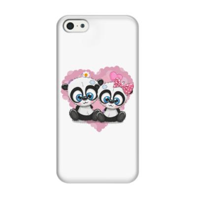 Чехол для iPhone 5/5s Маленькие панды