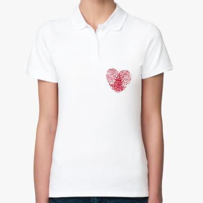 Женская рубашка поло Отпечатки Любви