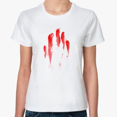 Классическая футболка Кровавый след