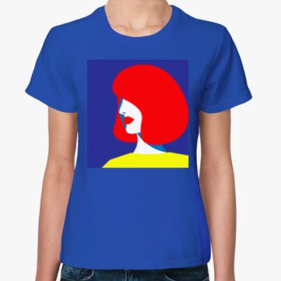 Женская футболка Стильная девушка в стиле поп арт