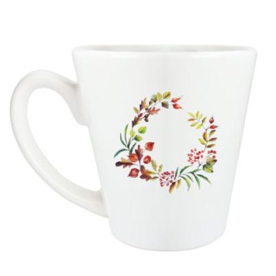 Чашка Латте Уютная осень