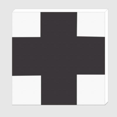 Холст Черный крест Малевича