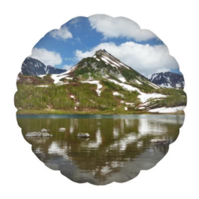 Подушка Полуостров Камчатка, горы, горное озеро, отражение