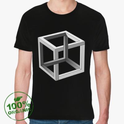 Футболка из органик-хлопка Невозможный Куб 3D