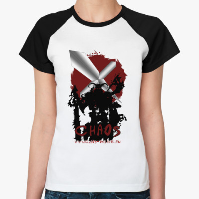 Женская футболка реглан  (жен,Noir,F001RD)