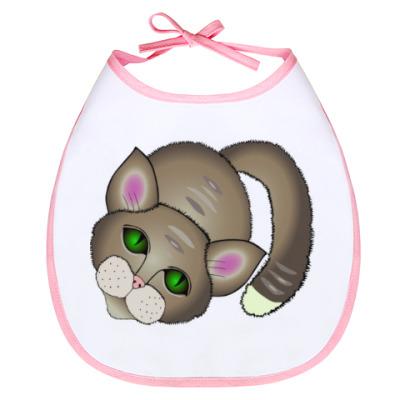 Слюнявчик  Грустный котик