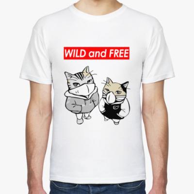 Футболка WILD and FREE ~ CAT КОТ