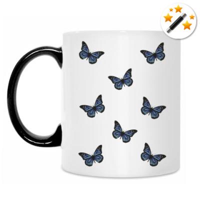 Кружка-хамелеон Бабочки