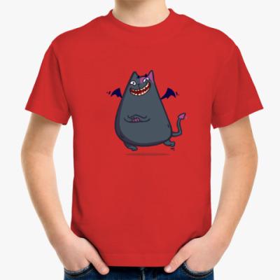 Детская футболка Бесокот — Пятничный Котик №43