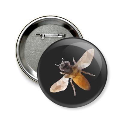 Значок 58мм Пчела / Bee