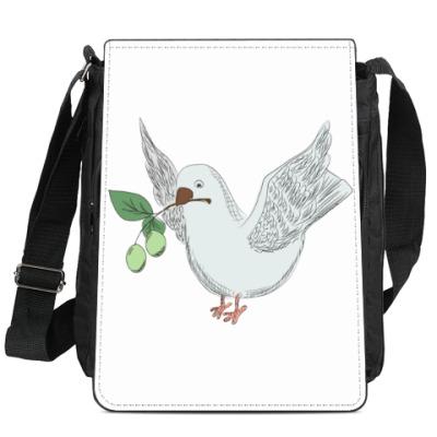 Сумка-планшет Голубь с оливой