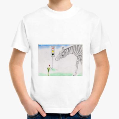 Детская футболка 'Зебра'