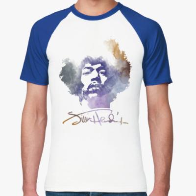 Футболка реглан  Jimi Hendrix - Джими Хендрик