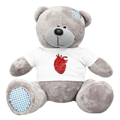 Плюшевый мишка Тедди Сердце 3D