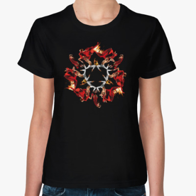 Женская футболка Танец-страсть