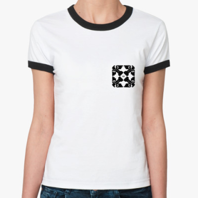 Женская футболка Ringer-T Орел-колесница