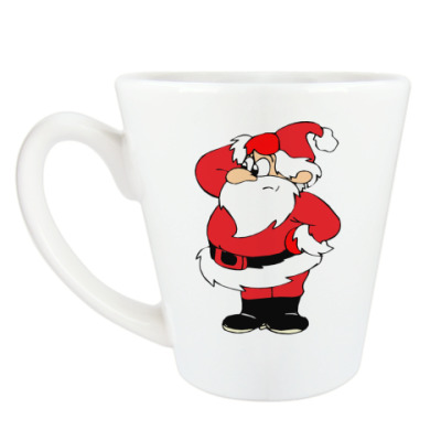 Чашка Латте Дед Мороз
