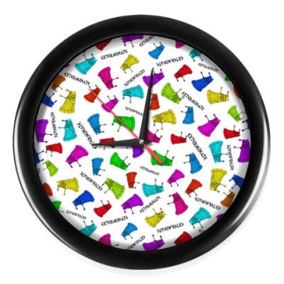 Настенные часы Цветные Далеки Доктор Кто