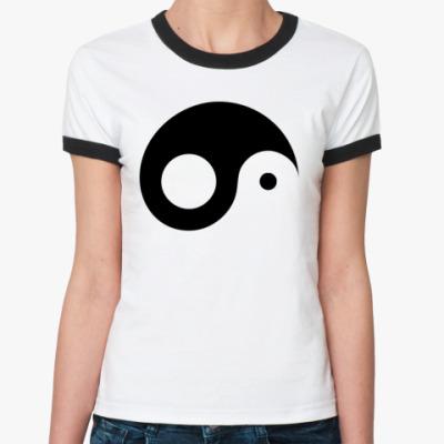 Женская футболка Ringer-T Типа гармония...